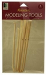 MINI MODEL TOOL WOOD 6PC