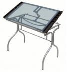 FOLDING CRAFT STATION GLASS TOP