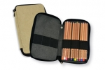 Canvas Pencil Case 48 Count Black