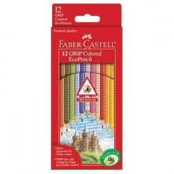 FABER-CASTELL 12 GRIP COLORED ECO PENCILS