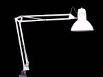 SWING ARM LAMP WITH BULB WHITE